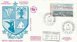 Terres Australes Et Antarctiques Françaises 1999   Base  De Kerguelen - FDC