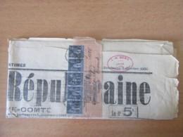 Bande De 5 Timbres Sage 1c N°83 Sur Bande Journal - Journal Présent, Daté Du 7 Octobre 1900 - 1877-1920: Periodo Semi Moderno