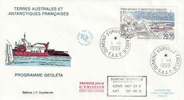 Terres Australes Et Antarctiques Françaises 1999  Programme Geoleta - FDC