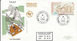Terres Australes Et Antarctiques Françaises 1998 Bateaux Le Cancalais - FDC