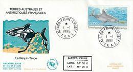 Terres Australes Et Antarctiques Françaises 1998  Le Requin Taupe - FDC