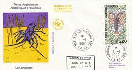 Terres Australes Et Antarctiques Françaises 1997 La Langouste - FDC