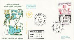 Terres Australes Et Antarctiques Françaises 1997  Service De Santé Des Armées - FDC