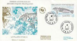 Terres Australes Et Antarctiques Françaises 1997   Poissons Le Pillard épineux - FDC