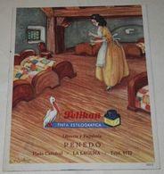 Antiguo Papel Secante Pelikan, Tinta Estilográfica / Librería Y Papelería Penedo / 10,5x9cm - Stationeries (flat Articles)