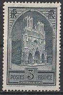 Timbre France Cathédrale De Reims  N° Yvert 259 De 1929 Neuf * Cote 77 € - Unused Stamps