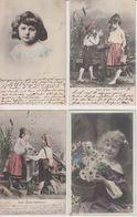 LOT 15 AK KINDEREN/ 15 OUDE WENSKAARTEN KINDEREN  1902 - 1927 - Children
