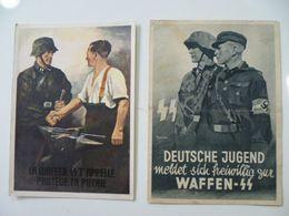 CPA / 2 Cartes Postales Anciennes Allemandes / DEUTSCHE JUGEND WAFFEN SS - Uniforms