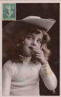 RARE  Portrait FIILLETTE  Grete REINWALD  Cigarette  Détails Repeints - Portraits