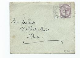 Great Britain Victoria  1d Lilac Sg172 Squared Cirlcle Stunning Quality Bishops Stortford F Bath Backstamp - 1840-1901 (Victoria)