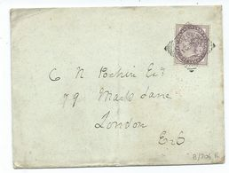 Great Britain Victoria 1d Lilac Sg172 Squared Cirlcle  Bishops Stotford K Newport London Backstamp Search Also Postcards - 1840-1901 (Victoria)