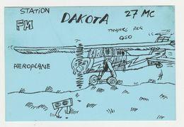 QSL Card 27MC Dakota Aeroplane Rotterdam (NL) - CB