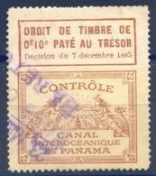 TIMBRE FISCAL De Contrôle : CANAL INTEROCEANIQUE DE PANAMA - (F1596) - Panama