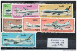 Kampuchea. Avions. Série Complète - Kampuchea