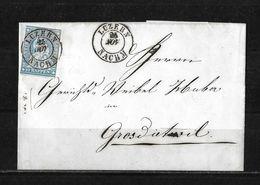 1854-1862 Helvetia (ungezähnt) → 1858 Faltbrief LUZERN Nach Grossdietwil    ►SBK-23B3.IV/V / Zentrischer Stempel◄ - 1854-1862 Helvetia (Non-dentelés)