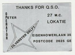 QSL Card 27MC Zilverster Delft (NL) - CB