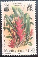 Montserrat 1985 Plants Flora Flowers , National Emblema 1v. Mnh - Montserrat