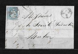 1854-1862 Helvetia (ungezähnt) → 1857 Faltbrief PORRENTRUY Nach Moutier     ►SBK-23B3.III / 3 Seiten Weissrandig◄ - 1854-1862 Helvetia (Non-dentelés)