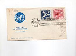 BOL1895 - COSTARICA 24/10/1961 Onu - Costa Rica