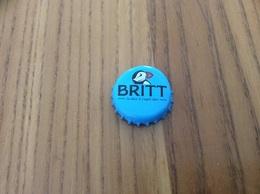 """Capsule De Bière * """"Britt La Bière à L'esprit Libre"""" Brasserie De Bretagne -Tregunc (29) (Macareux) H Fond Bleu - Beer"""