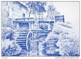 GOOIK (Vlaams-Brabant) - Molen/moulin - Blauwe Pentekening Van De Gewezen Terhaegenmolen (watermolen) - Gooik