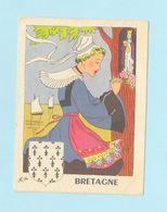 4 Images Personnages Région Bretagne, Auvergne,Lorraine,Gascogne - Vieux Papiers