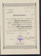 Österreich Heimat-Schein 1939 Oberkirchen Bez. Zwettl - Historische Dokumente