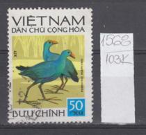 103K1568 / 1972 - Michel Nr. 705 Used ( O ) Native Birds Porphyrio Porphyrio Western Swamphen  , North Vietnam Viet Nam - Vietnam