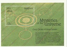 Maldives UFO Crop Circles Of Great Britian Space Alien MNH** 1992 - Malediven (1965-...)