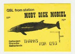 QSL Card 27MC Moby Dick Mobiel Overschie Rotterdam (NL) - CB
