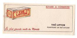 Buvard Thé Lipton Planteurs De Thé Ceylan La Plus Grande Vente Du Monde - Format : 21x9cm - T