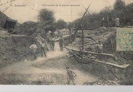 K29//   1906 JOUARRE    EXTRACTION DE LA PIERRE MEULIERE           UNIEK BEELD!!!! - Berufe