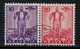 Suisse // Schweiz // Switzerland // Se-Tenant // Du Bloc Pro-Patria 1936  No.Z23 Oblitéré - Se-Tenant