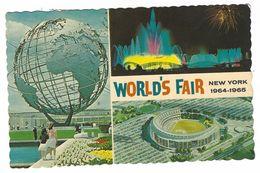CLA044 - WORLD'S FAIR NEW YORK 1964 1965 COURT OF PEACE FOUNTAIN SHEA STADIUM - Stadiums & Sporting Infrastructures