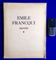 EMILE FRANCQUI 1863-1935 183pg ©1935 Congo Belge COLONIAL Belgisch Kongo KOLONIAAL Histoire Heemkunde Geschiedenis Z616 - Congo Belge - Autres