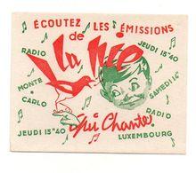 Buvard écoutez Les émissions De Radio Monte-Carlo Radio Luxembourg - Format : 11x14 Cm - Vloeipapier