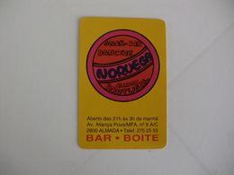 Snack Bar Noruega Almada Portugal Portuguese Pocket Calendar 1992 - Calendarios