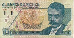 BILLETE DE MEXICO DE 10 PESOS DEL AÑO 1992 (BANKNOTE) - Messico
