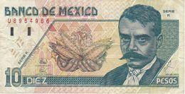 BILLETE DE MEXICO DE 10 PESOS DEL AÑO 1994 (BANKNOTE) - Messico