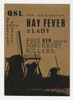 QSL Card 27MC Hay Fever & Lady Dordrecht (NL) - CB