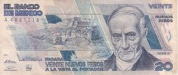 BILLETE DE MEXICO DE 20 NUEVOS PESOS AÑO 1992 DE ANDRES QUINTANA (BANKNOTE) - Messico