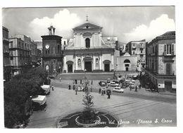 CLA056 - TORRE DEL GRECO PIAZZA S CROCE ANIMATA AUTO 1966 - Torre Del Greco