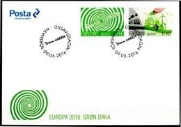 """Europa 2016 """"Think Green"""" - Féroés Foroyar FDC - Europa-CEPT"""