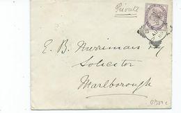 Great Britain Victoria 1d Lilac Probably Rare   Squared Circle Box A  Search Also Postcards  To  Marlborough - 1840-1901 (Victoria)