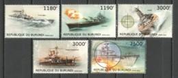 Burundi 2012 Mi 2873-2877 MNH WAR SHIPS - Barche