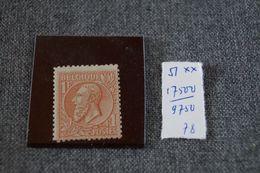 Cob N° 51 , Léopold II ,1Fr 1878,rouge -brun Sur Vert, Neuf Avec Gomme Sans Charnière,pour Collection,originale,RARE - 1869-1883 Leopold II