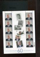Belgium Koning Filip 60 Jaar Philippe 60 Ans 2020 MNH - Panes