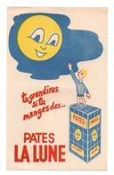 Buvard Tu Grandiras Si Tu Manges Des Pâtes La Lune - Format : 14x22 Cm - Alimentaire