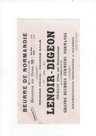 Buvard  Beurre De Normandie  Lenoir-digeon 60 Fouilloy Par Romescamps - Alimentaire