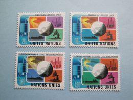 Bateaux 1975  Nations Unies  Yv 249/50 - 46/7  ** MNH  Michel 279/80 - 46/7 Ships - Emissions Communes New York/Genève/Vienne